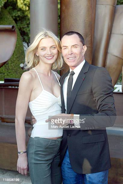 Sarah Marshall and JeanClaude Jitrois during Jaeger LeCoultre Party 70th Anniversary of the Reverso Watch June 29 2006 at Jaeger LeCoultre party in...