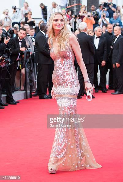 Sarah Marshall attends the 'Dheepan' Premiere during the 68th annual Cannes Film Festival on May 21 2015 in Cannes France