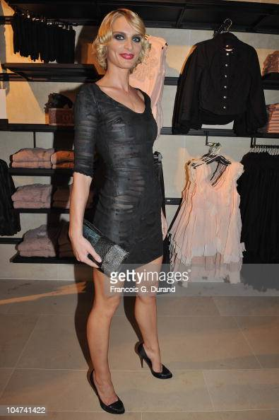Sarah Marshall attends the 'HM Champs Elysees' Designed by Jean Nouvel flagship opening during Paris Fashion Week Spring/ Summer 2011 on October 4...