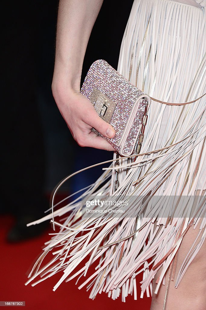 Sarah Marshall (clutch detail) attends the Opening Ceremony and premiere of 'The Great Gatsby' during the 66th Annual Cannes Film Festival at Palais des Festivals on May 15, 2013 in Cannes, France.