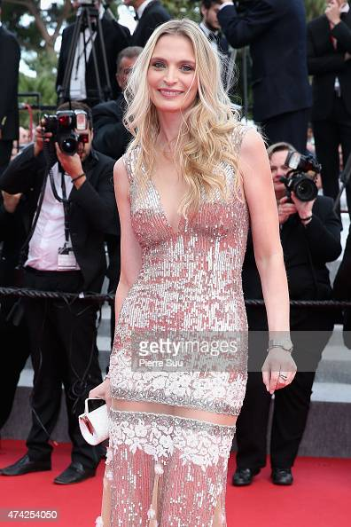 Sarah Marshall attends the Premiere of 'Dheepan' during the 68th annual Cannes Film Festival on May 21 2015 in Cannes France