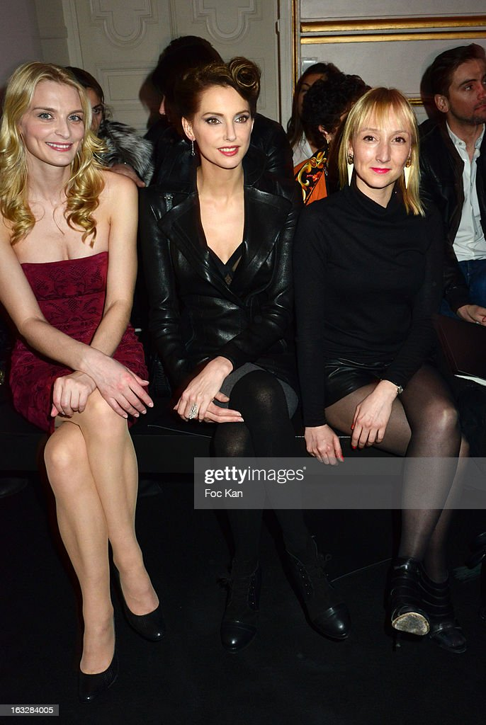 Sarah Marshall, Frederique Bel and Audrey Lamy attend the Jitrois - Front Row - PFW F/W 2013 at Hotel Saint James & Albany on March 6, 2013 in Paris, France.