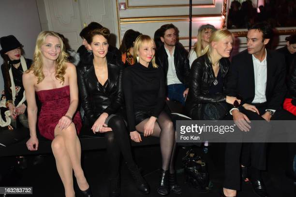 Sarah Marshall Frederique Bel Audrey Lamy Anna Sherbinia and Anthony Delon attend the Jitrois Front Row PFW F/W 2013 at Hotel Saint James Albany on...