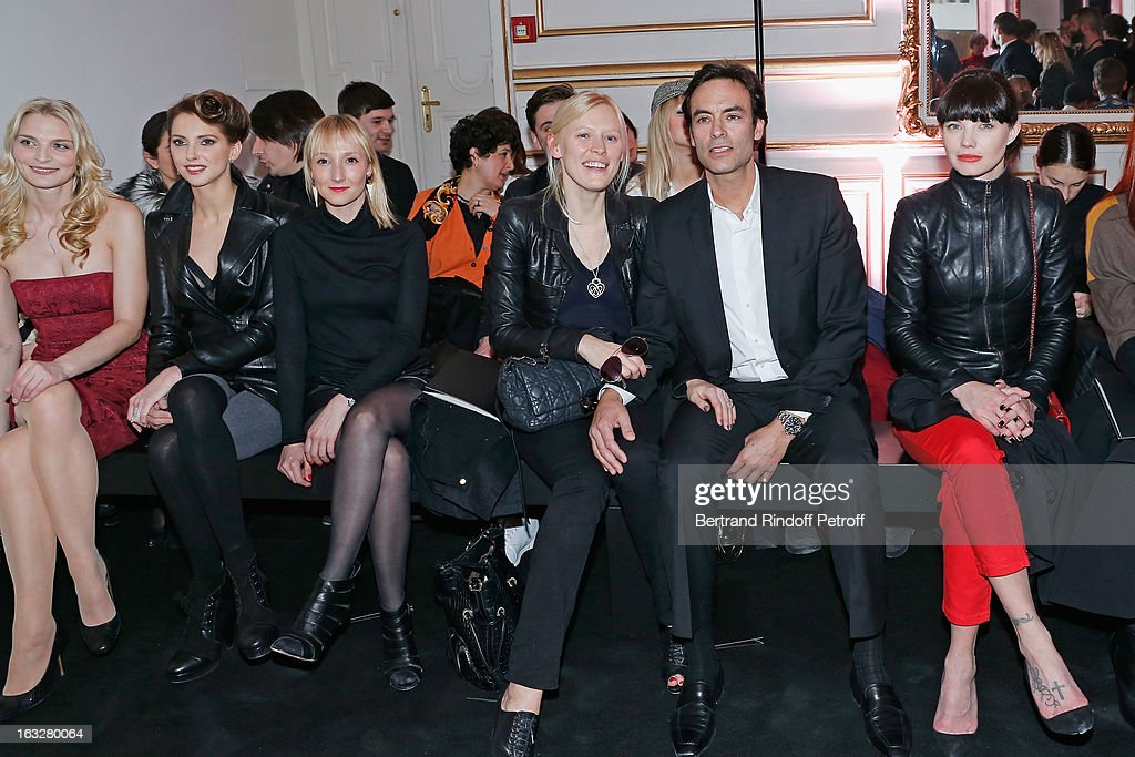 Sarah Marshall, Frederique Bel, Audrey Lamy, Anna Sherbinina, Anthony Delon and Delphine Chaneac attend the Jitrois Fall/Winter 2013 Ready-to-Wear show as part of Paris Fashion Week on March 6, 2013 in Paris, France.
