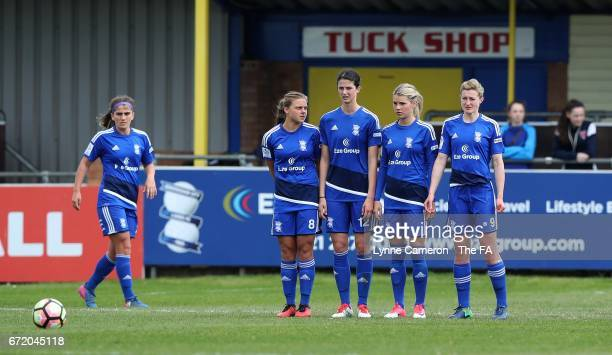 Sarah Mayling Abbeyleigh Stringer Andrine Hegerberg and Ellen White of Birmingham City during the match between Birmingham City and Sunderland Ladies...