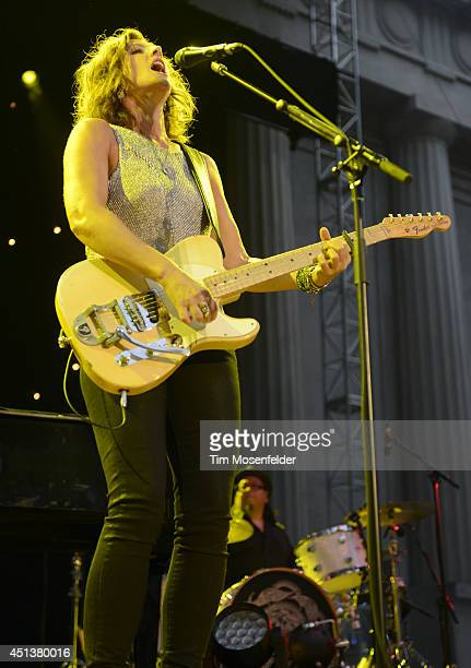 Sarah McLachlan performs in support of her 'Shine' release at the Greek Theatre on June 27 2014 in Berkeley California