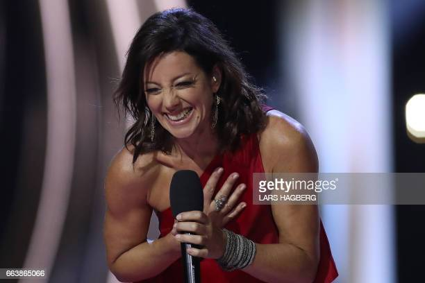 Sarah McLachlan who was inducted into the Canadian Music Hall of Fame performs during JUNO awards show at the Canadian Tire Centre in Ottawa Canada...