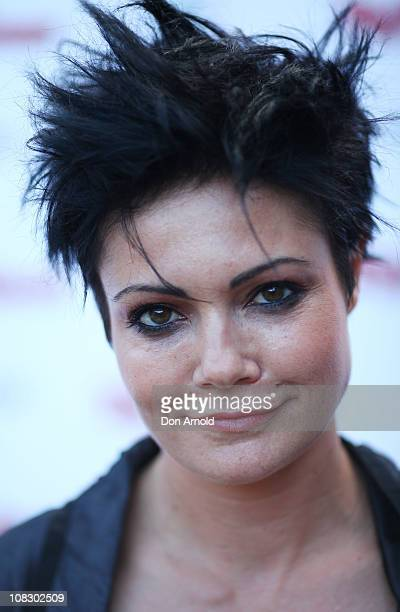 Sarah McLeod arrives at the 2nd Rolling Stone Awards at B2 Studios on January 25 2011 in Sydney Australia