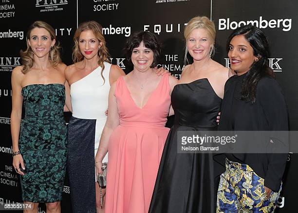 Sarah Megan Thomas Alysia Reiner Amy Fox Anna Gunn and Meera Menon attend a screening of Sony Pictures Classics' 'Equity' hosted by The Cinema...
