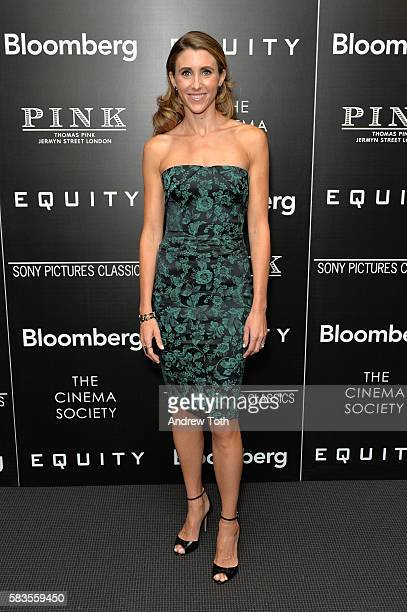 Sarah Megan Thomas attends a screening of Sony Pictures Classics' 'Equity' hosted by The Cinema Society with Bloomberg and Thomas Pink on July 26...