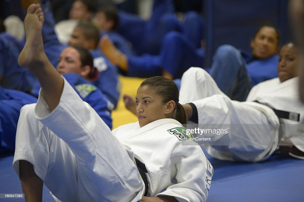 <a gi-track='captionPersonalityLinkClicked' href=/galleries/search?phrase=Sarah+Menezes&family=editorial&specificpeople=6652788 ng-click='$event.stopPropagation()'>Sarah Menezes</a> in action during the first official training season of the team, who will represent Brazil in the Olympic Games Rio 2016, at Maria Lenk Aquatic Center on January 29, 2013 in Rio de Janeiro, Brazil.