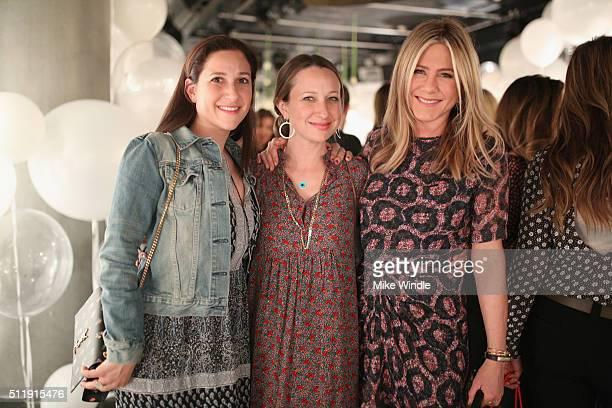 Sarah Meyer jewelry designer Jennifer Meyer and actress Jennifer Aniston attend smartwater sparkling celebrates Jennifer Aniston and St Jude's...