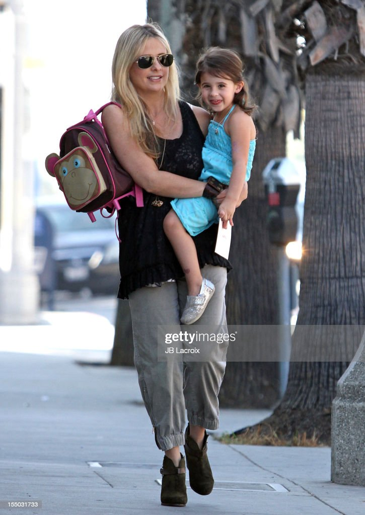 Sarah Michelle Gellar and Charlotte Prinze are seen on October 30 2012 in Los Angeles California