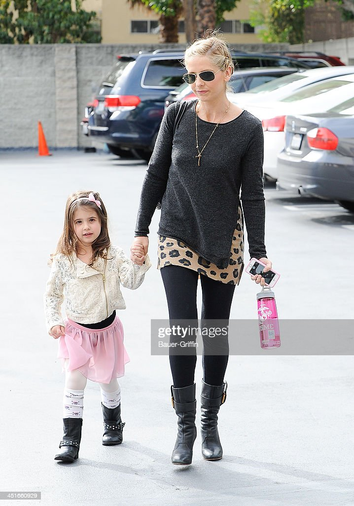 Sarah Michelle Gellar and daughter Charlotte Prinze are seen on November 23 2013 in Los Angeles California