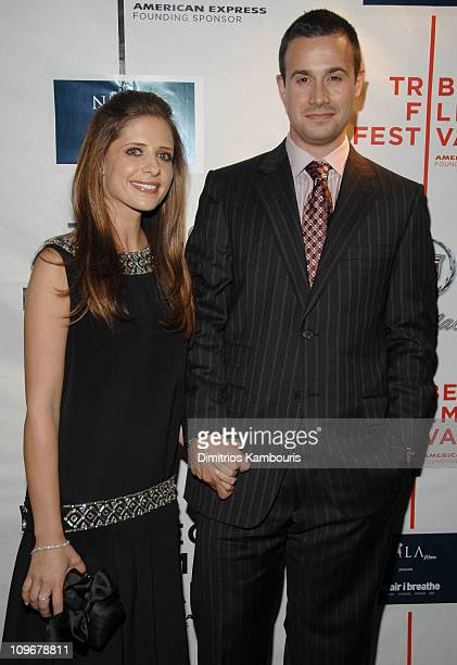Sarah Michelle Gellar and Freddie Prinze Jr during 6th Annual Tribeca Film Festival 'The Air I Breathe' After Party at Tenjune in New York City New...
