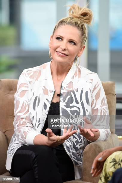 Sarah Michelle Gellar appears on Hollywood Today Live at W Hollywood on April 7 2017 in Hollywood California