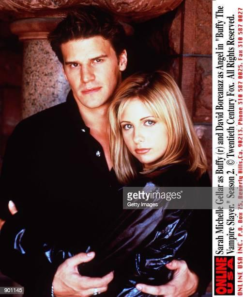 Sarah Michelle Gellar as Buffy and David Boreanaz as Angel in 'Buffy The Vampire Slayer' Season 2