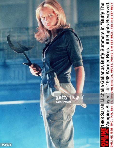 Sarah Michelle Gellar as Buffy Summers in the television series 'Buffy The Vampire Slayer' 1998