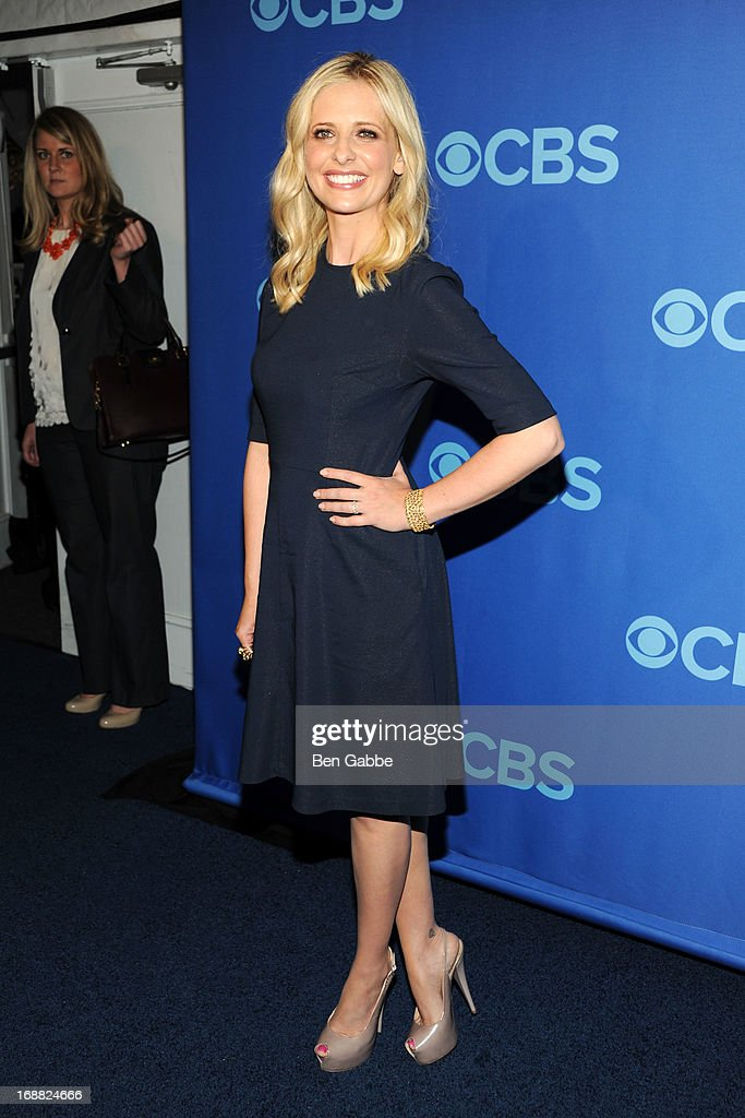 <a gi-track='captionPersonalityLinkClicked' href=/galleries/search?phrase=Sarah+Michelle+Gellar&family=editorial&specificpeople=201781 ng-click='$event.stopPropagation()'>Sarah Michelle Gellar</a> attends CBS 2013 Upfront Presentation at The Tent at Lincoln Center on May 15, 2013 in New York City.