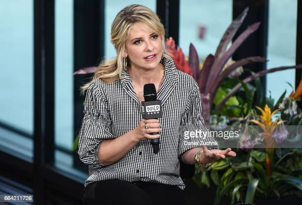 Sarah Michelle Gellar attends the Build Series to discuss her new book 'Stirring Up Fun With Food' at Build Studio on April 3 2017 in New York City