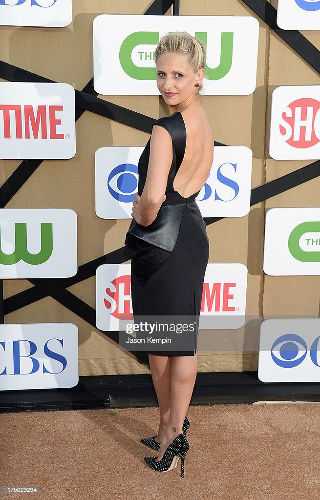 <a gi-track='captionPersonalityLinkClicked' href=/galleries/search?phrase=Sarah+Michelle+Gellar&family=editorial&specificpeople=201781 ng-click='$event.stopPropagation()'>Sarah Michelle Gellar</a> attends the CW, CBS And Showtime 2013 Summer TCA Party on July 29, 2013 in Los Angeles, California.