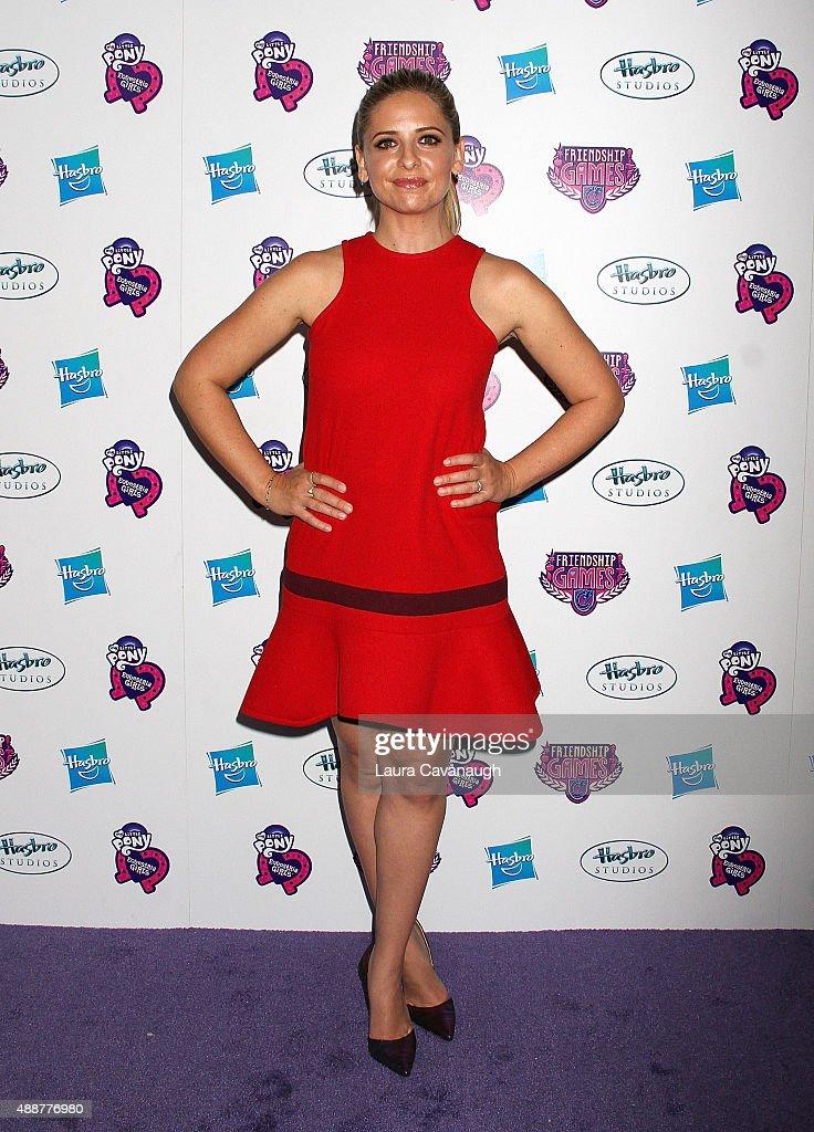 Sarah Michelle Gellar attends the 'My Little Pony Equestria Girls Friendship Games ' New York Premiere at Angelika Film Center on September 17 2015...