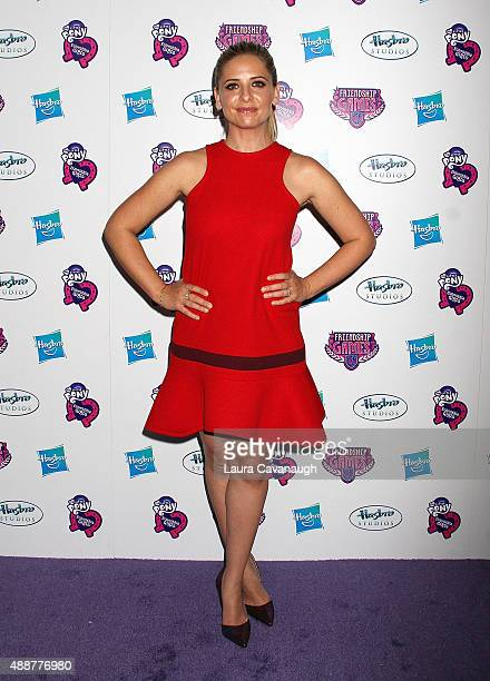 Sarah Michelle Gellar attends the 'My Little Pony Equestria Girls Friendship Games ' New York Premiere at Angelika Film Center on September 17 2015...