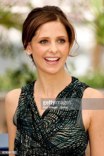 Image has been digitally retouched Sarah Michelle Gellar attends the 'Southland Tales' photo call during the 59th Cannes Film Festival in Cannes...
