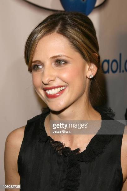 Sarah Michelle Gellar during AOL In2TV Launch Red Carpet at Museum of Television and Radio in Los Angeles California United States