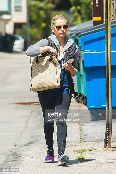 Sarah Michelle Gellar is seen on April 10 2015 in Los Angeles California