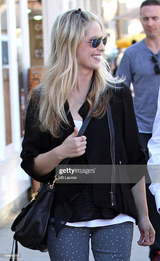 Sarah Michelle Gellar is seen on January 17, 2013 in Los Angeles, California.
