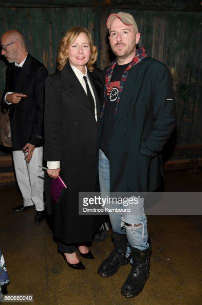 Sarah Mower and Demna Gvasalia attend Vogue's Forces of Fashion Conference at Milk Studios on October 12 2017 in New York City