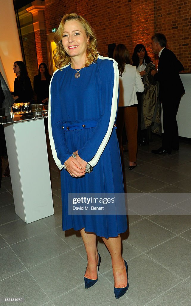 Sarah Mower attends Cocktail to Celebrate the Launch of the Book 'Chloe Attitudes' hosted by Sarah Mower and Marc Ascoli at Freer and Sackler Gallery on October 17, 2013 in London, England.
