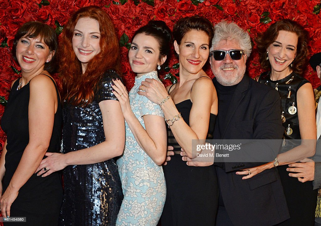 Sarah Moyle Willemijn Verkaik Seline Hizli Tamsin Greig Pedro Almodovar and Haydn Gwynne attend an after party following the press night performance...