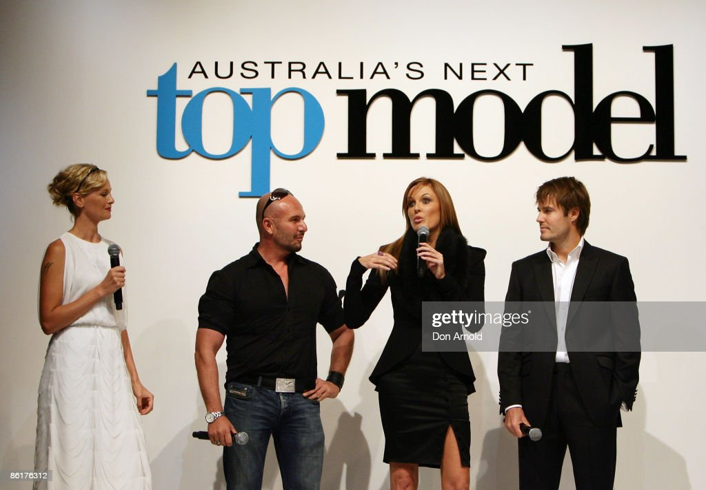 Sarah Murdoch Alex Perry Charlotte Dawson and Jonathon Pease address guests at the official launch party for 'Australia's Next Top Model' at...