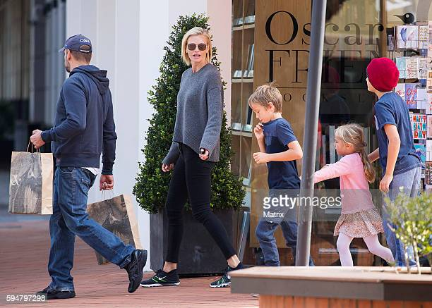 Sarah Murdoch and her children are seen on August 9 2016 in Sydney Australia