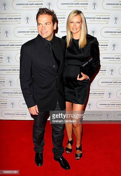 Sarah Murdoch and Lachlan Murdoch arrive at the 2010 Australian Commercial Radio Awards at the Crown Palladium on October 16 2010 in Melbourne...