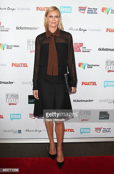 Sarah Murdoch arrives at the 2014 Helpmann Awards at the Capitol Theatre on August 18 2014 in Sydney Australia