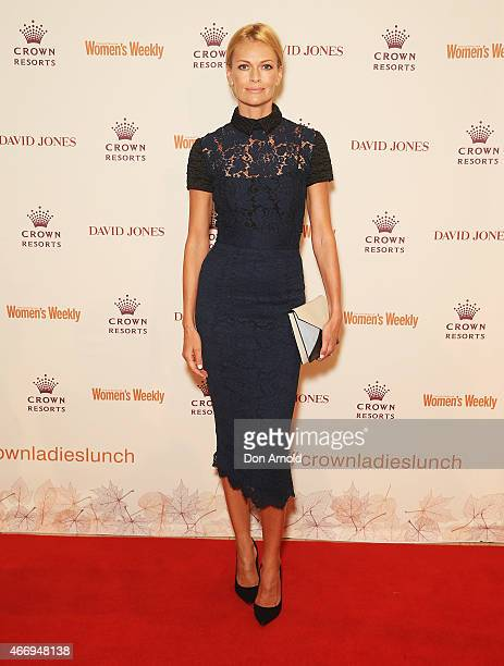 Sarah Murdoch poses at the Crown's Autumn Ladies Lunch at David Jones Elizabeth Street Store on March 20 2015 in Sydney Australia