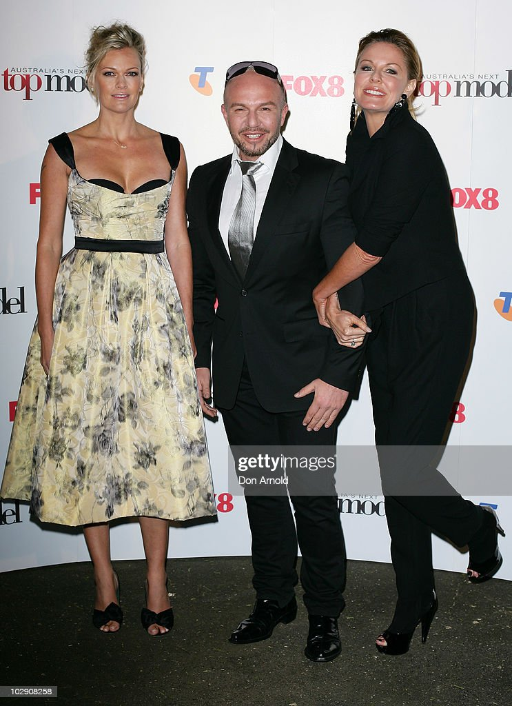Sarah MurdochAlex Perry and Charlotte Dawson pose on the red carpet during the launch of Australia's Next Top Model Series 6 at the Inglis Newmarket...