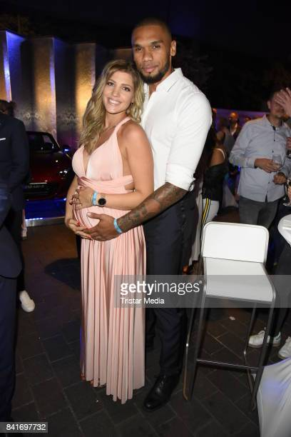 Sarah Nowak and her boyfriend Dominic Harrison during the Alcatel Entertainment Night feat Music Meets Media at Sheraton Berlin Grand Hotel Esplanade...