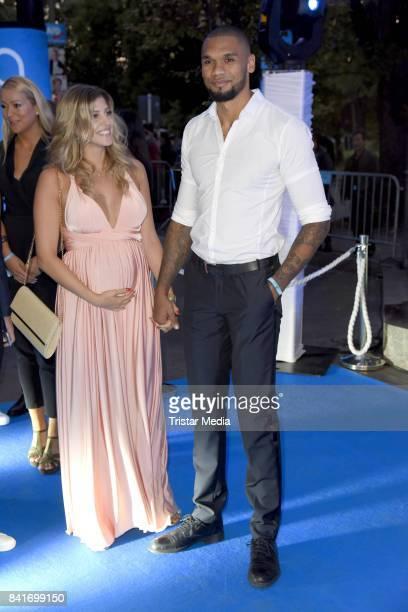Sarah Nowak and her boyfriend Dominic Harrison during the Alcatel Entertainment Night feat Music Meets Media at Sheraton Berlin Grand Hotel Esplanade...