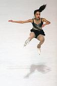 Sarah Nunez of United States skates during the junior ladies short dance of the ISU Junior Grand Prix at Dom Sportova on October 8 2015 in Zagreb...