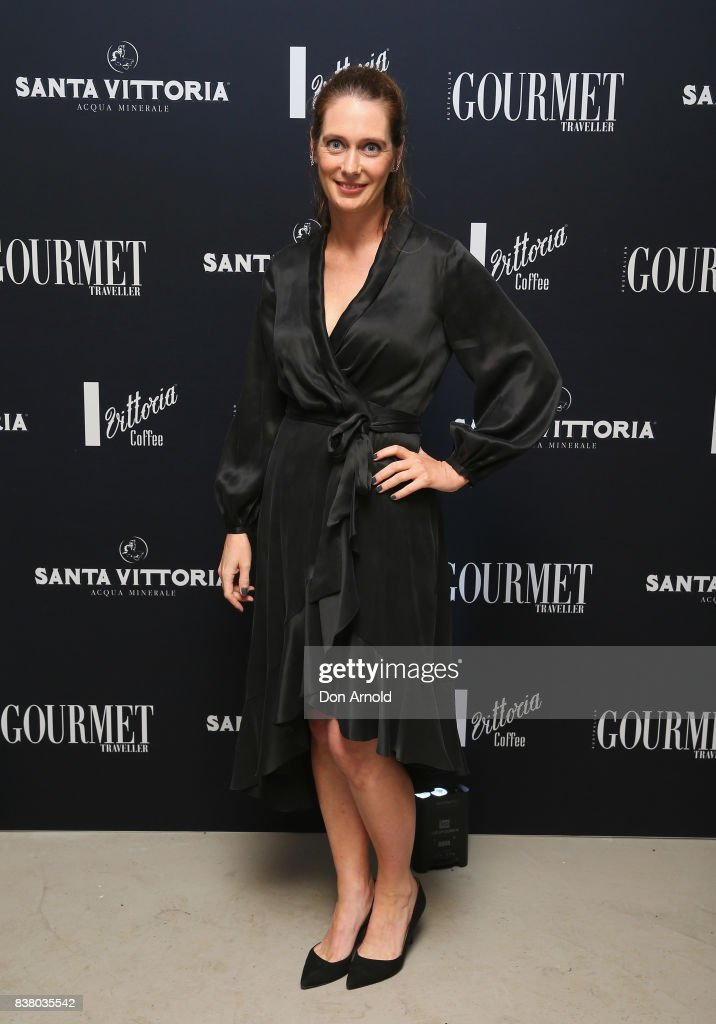 Sarah Oakes poses at the 2018 Gourmet Traveller National Restaurant Awards at Chin Chin Restaurant on August 23, 2017 in Sydney, Australia.