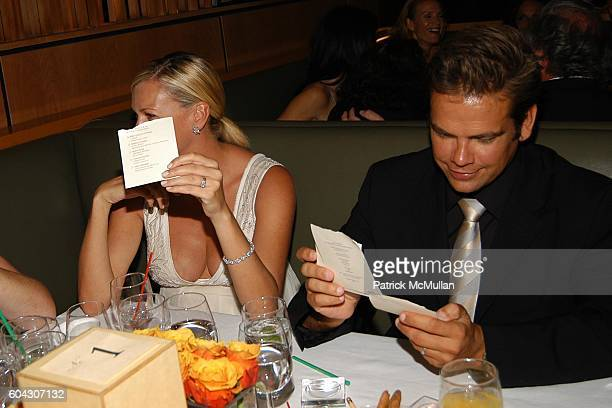 Sarah O'Hare and Lachlan Murdoch attend Vanity Fair Oscar Party at Morton's Restaurant on March 5 2006