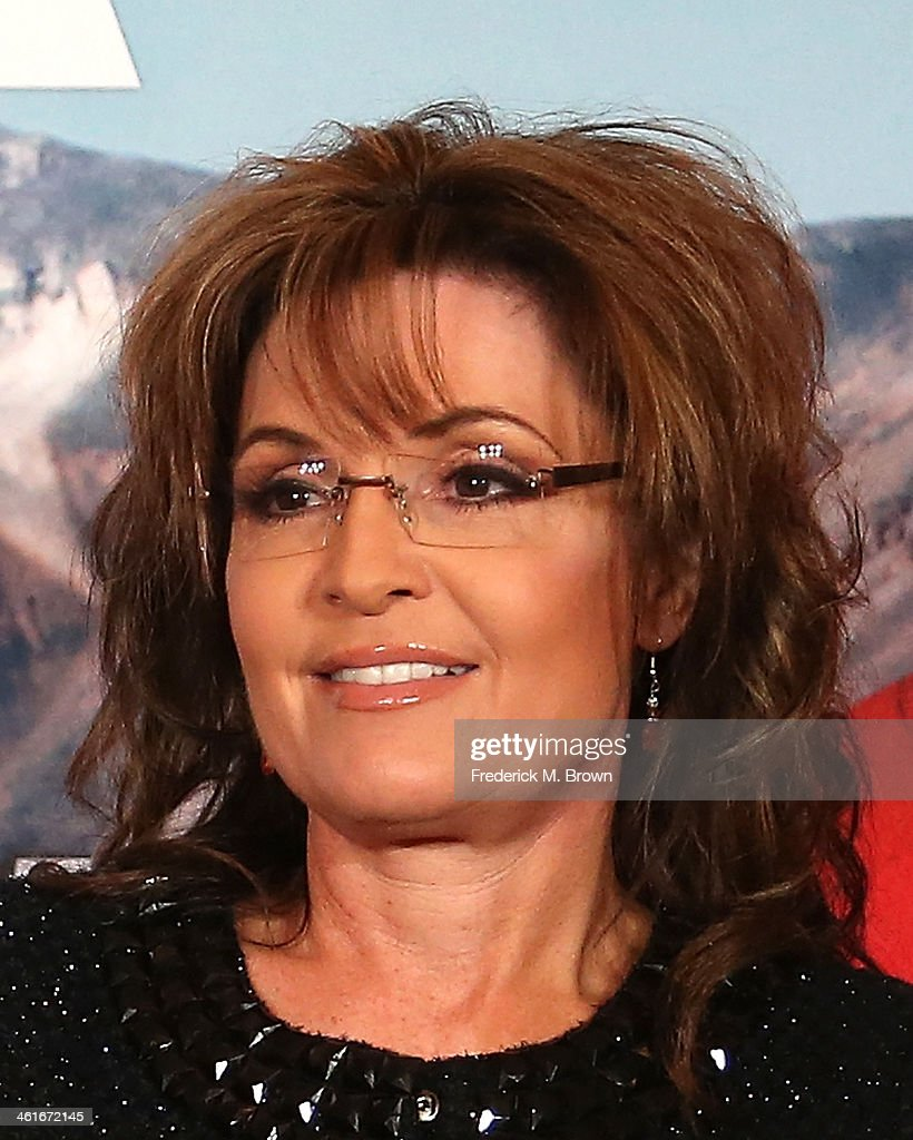 <a gi-track='captionPersonalityLinkClicked' href=/galleries/search?phrase=Sarah+Palin&family=editorial&specificpeople=4170348 ng-click='$event.stopPropagation()'>Sarah Palin</a> and Sportsman Channel host breakfast during the 2014 Winter Television Critics Association tour at the Langham Hotel on January 10, 2014 in Pasadena, California.
