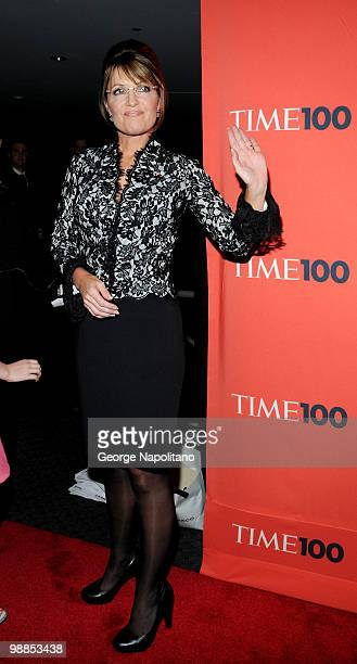 Sarah Palin attends the 2010 TIME 100 Gala at the Time Warner Center on May 4 2010 in New York City