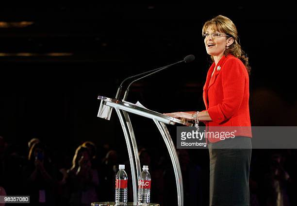 Sarah Palin former governor of Alaska and 2008 vicepresidential candidate speaks at the Southern Republican Leadership Conference in New Orleans...