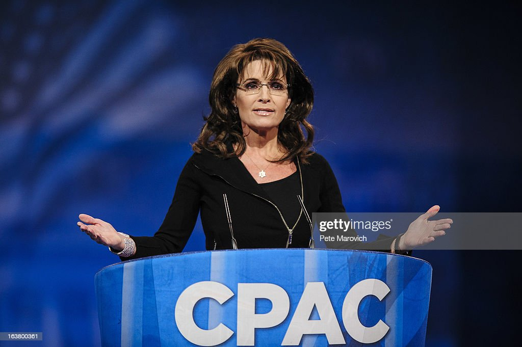 Sarah Palin, former Governor of Alaska, speaks at the 2013 Conservative Political Action Conference (CPAC) March 16, 2013 in National Harbor, Maryland. The American Conservative Union held its annual conference in the suburb of Washington, DC to rally conservatives and generate ideas.
