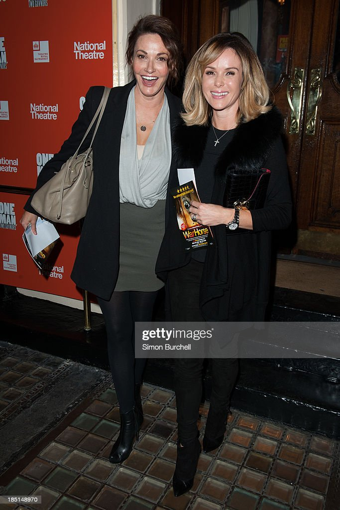 <a gi-track='captionPersonalityLinkClicked' href=/galleries/search?phrase=Sarah+Parish&family=editorial&specificpeople=213881 ng-click='$event.stopPropagation()'>Sarah Parish</a> and <a gi-track='captionPersonalityLinkClicked' href=/galleries/search?phrase=Amanda+Holden&family=editorial&specificpeople=202922 ng-click='$event.stopPropagation()'>Amanda Holden</a> attends the press night for the new cast of 'One Man, Two Guvnors' at Theatre Royal on October 17, 2013 in London, England.